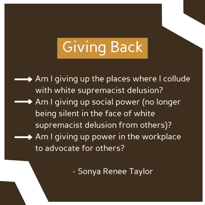 """""""Giving Back"""" See image description for full text."""
